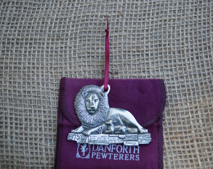 Ornament: Lion and Lamb Danforth Pewter Christmas Ornament