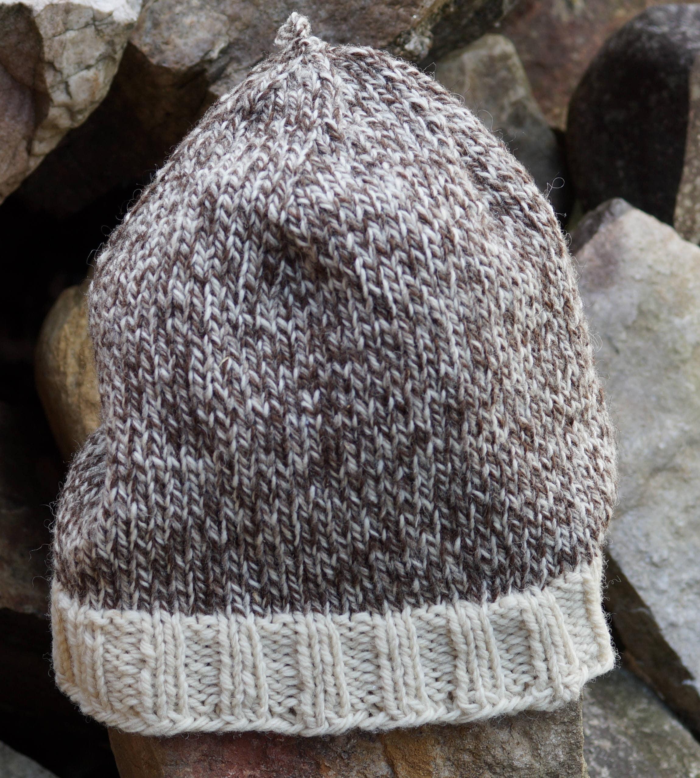 Kat\'s Patterns: Tweed Sheep PDF Easy Knit Hat Pattern