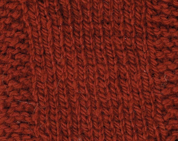 Garnet 3 ply wool hand dyed worsted weight farm yarn from our American farm
