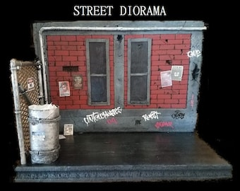 Street alley action figure diorama