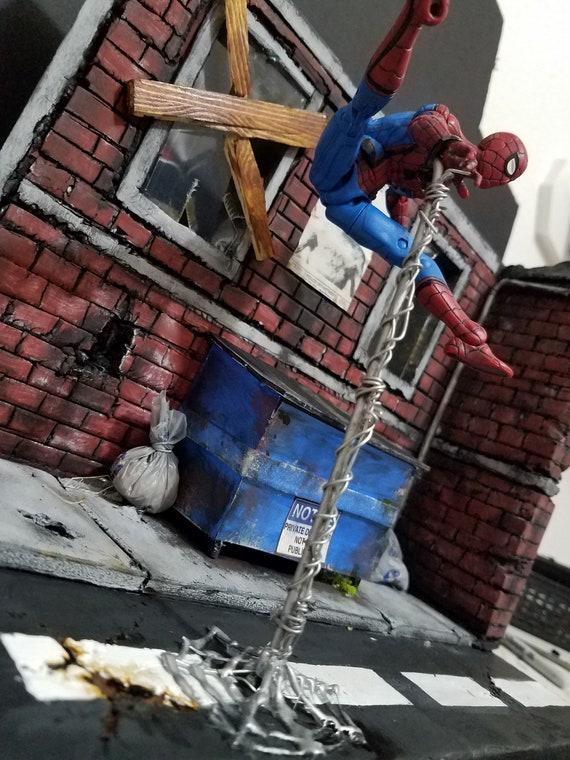 spiderman action figure diorama detolf marvel