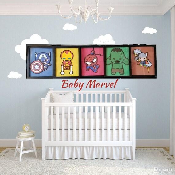 Wunder Baby junge Zimmer Kinderzimmer set 5 avengers