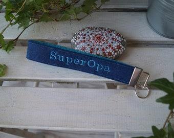 """Keyband """"SuperGrandpa"""" blue"""