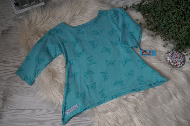 Tunic Butterfly blue image 0