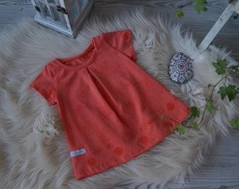 """Tunic """"Little Butterfly"""" orange"""