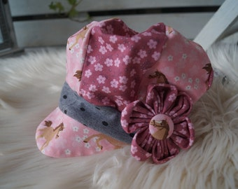 "Balloon Hat ""horse love"" Pink"