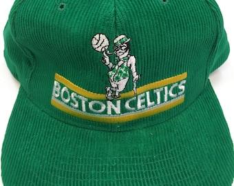 cfac2972a0f ... clearance vintage boston celtics nba basketball 100 corduroy snapback  hat 4ae76 d927c