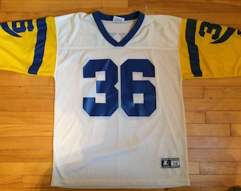 Vintage 90s Jerome Bettis  36 LA Los Angeles Rams Starter Football Jersey  Sz 48 Large Tshirt bb25d2d3a