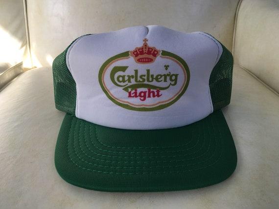 Deadstock Vintage Carlsberg Light Beer Meshback Trucket Foam Snapback Hat c0aaa6726053