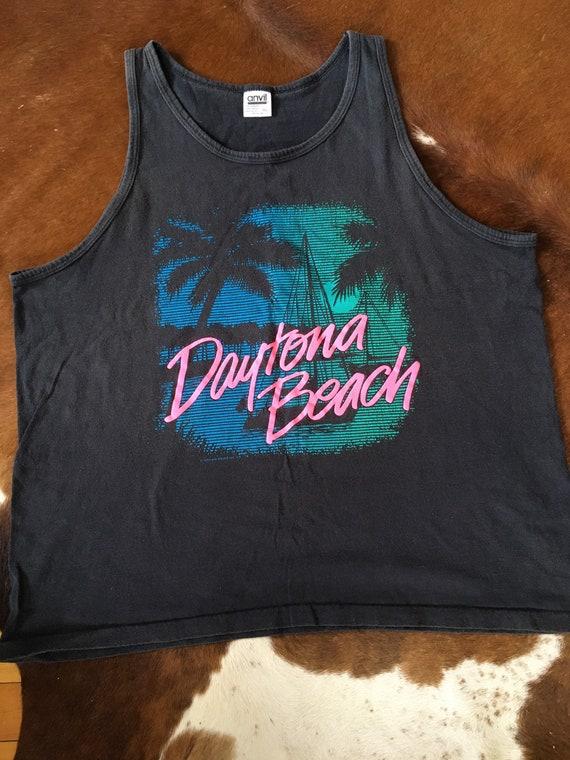 Vintage 90s Daytona Beach Florida Beach Souvenir T