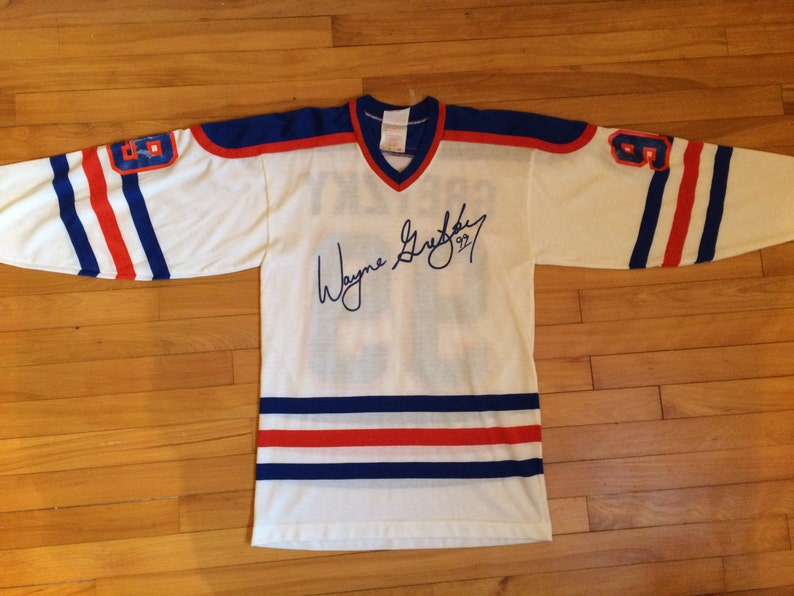 bbdb0271165 Vintage RARE 1980s Wayne Gretzky Edmonton Oilers 99 Fascimile