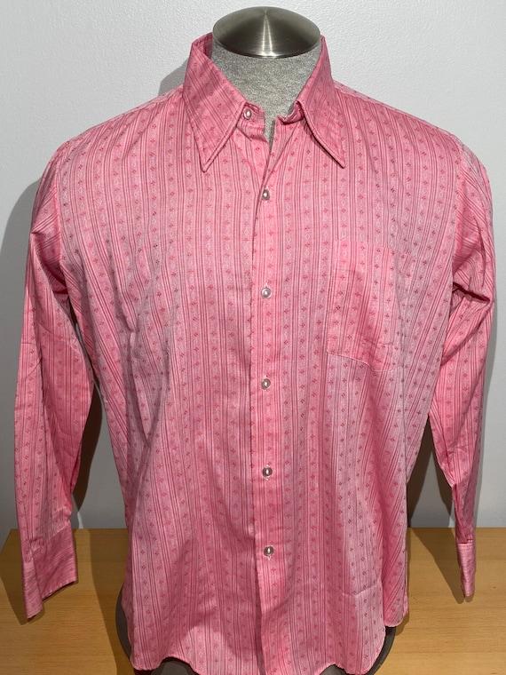 Vintage 70s 80s Marlo Pink Disco Print Summer Beac