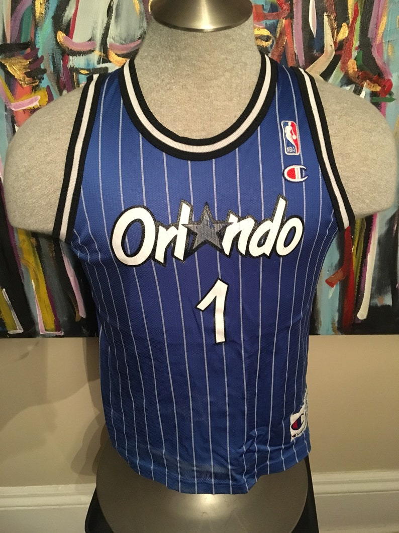 low priced 798a7 9649a Vintage Orlando Magic Anfernee Penny Hardaway #1 NBA Basketball Blue  Pinstripe Small Jersey