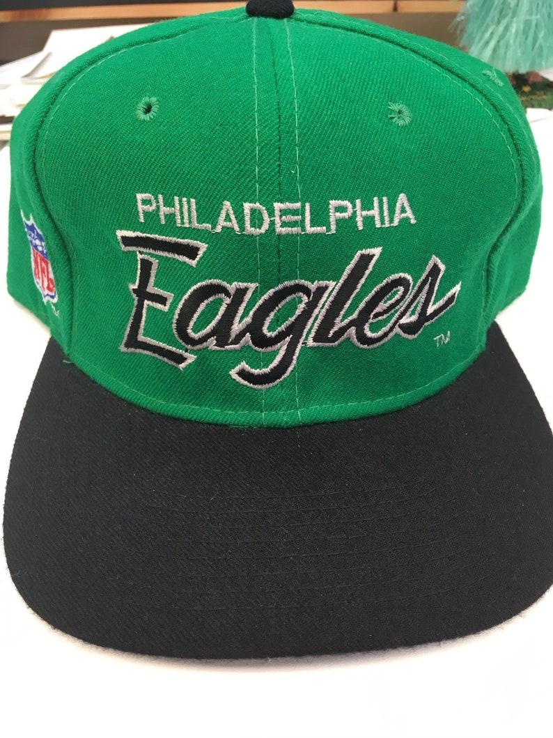 969b695b7 Deadstock Vintage Philadelphia Eagles NFL Football 100% Wool Sport  Specialties 7 1/2 Fullback Script Hat