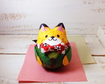 Fox with tie cloth roly-poly