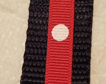 Custom Order for Wendy, Black 4 Foot Large Nylon Dog Leash with White Polka Dots on Red Grosgrain Ribbon, Black and Red Leashes, Dog Leashes