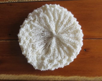 Hand Knitted Lace Beret