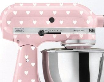 Heart Polka Dot Kitchen Mixer Decals