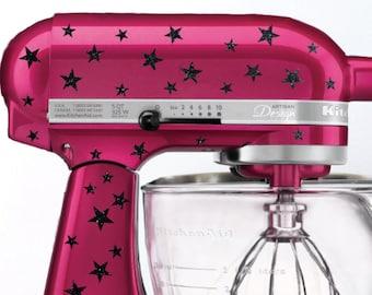 Star Glitter Kitchen Mixer Decals, Mixer Stickers