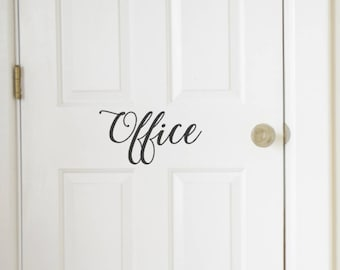 Office Vinyl Door Decal