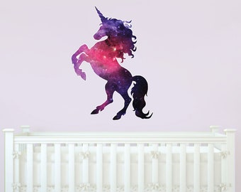 Unicorn Galaxy Vinyl Wall Decal, Vinyl Wall Decal, Large Wall Decal, Oversized Wall decal, Unicorn decal, Galaxy Wall Decal