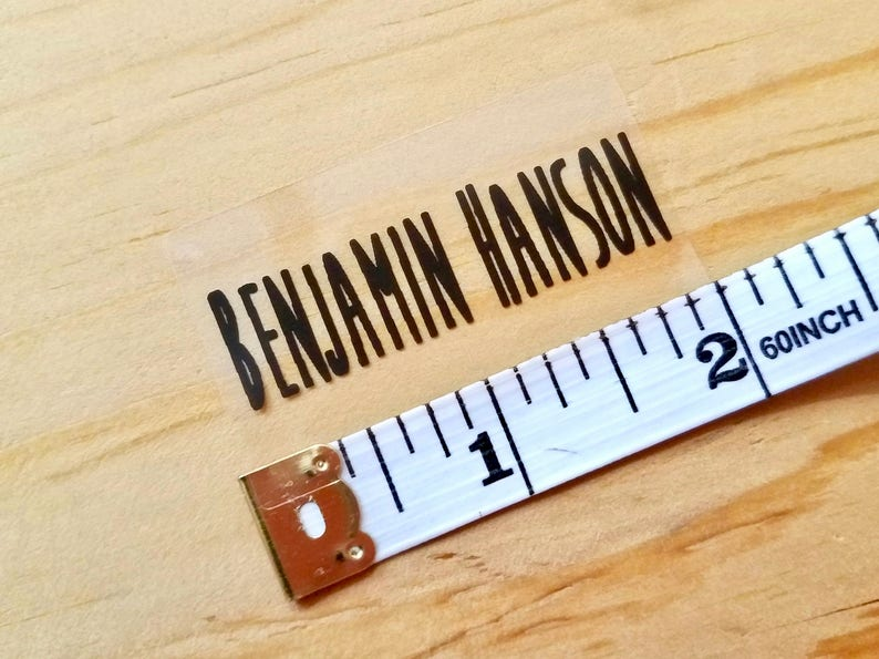 Daycare Labels Waterproof Name Stickers School Labels Large Rectangle Labelshanprinting 27 X-Large Size Clear Transparent Label Sticker