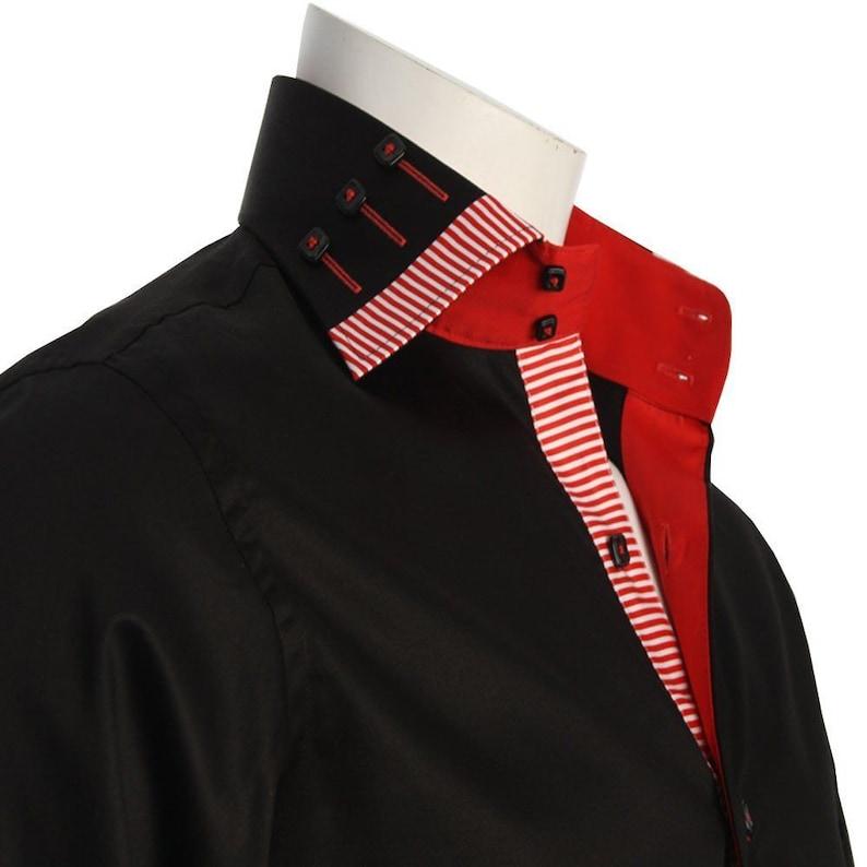 Men/'s Formal Shirt Men Italian Shirt Designer Regular Fit Casual Long Sleeve Black 10007