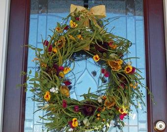 Superb Summer Wreath Summer Wreaths For Front Door Wispy Wreath Large Wreath Large