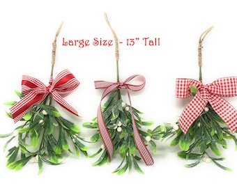 large mistletoe hanging mistletoe artificial mistletoe christmas mistletoe mistletoe ornament christmas holiday home and office party decor