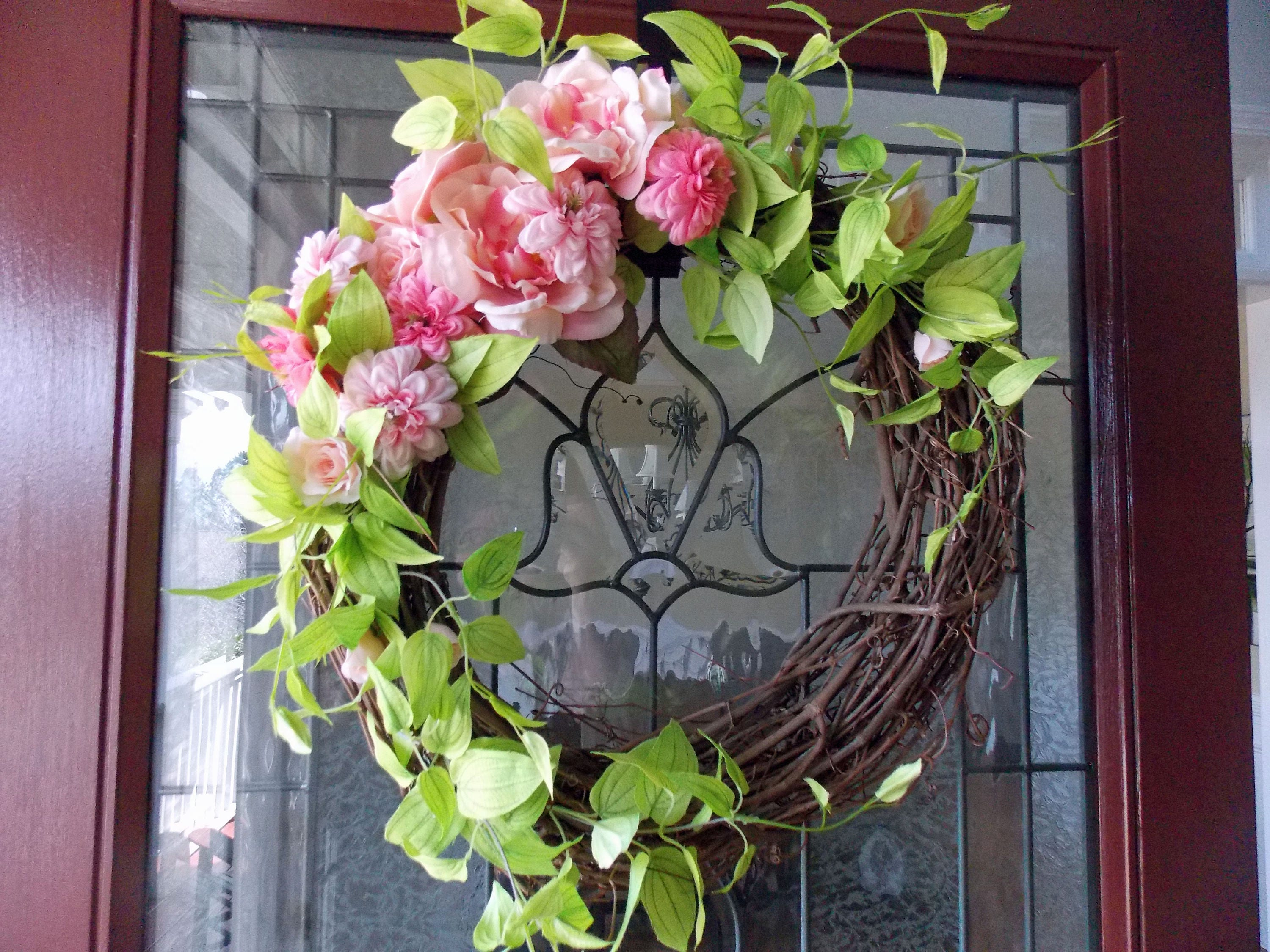 Summer Wreath Summer Wreaths For Front Door Wreaths For Front Etsy