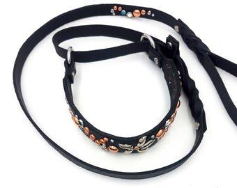 Custom Leather Dog Leash / Brown Leather Dog Leash / Black Leather Dog Leash / Lariat 5ft / 150cm Leash (20mm)