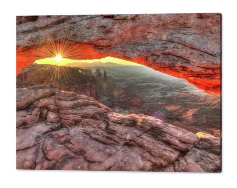 Canyonlands National Park American Southwest Landscape Wall Art Mesa Arch Sunrise Print Canyon Art Moab Utah Art Mesa Arch Sunset