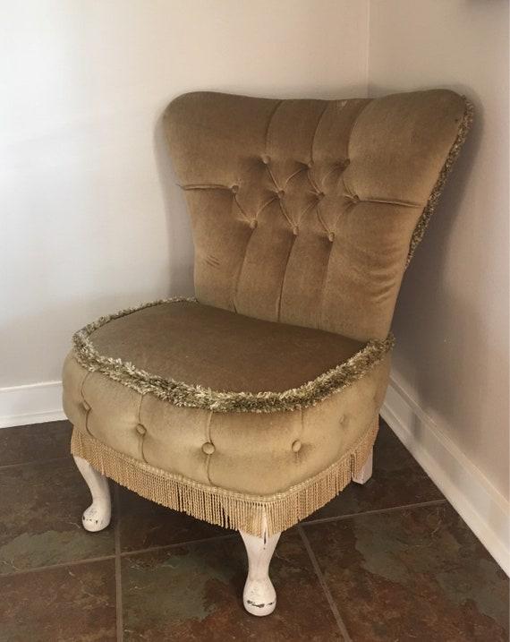 Childs Vintage Victorian Slipper Chair