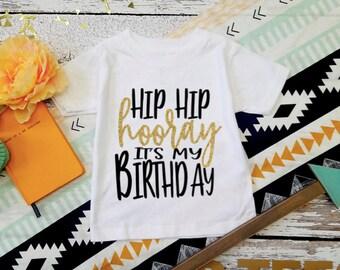 Hip Hip Hooray It's My Birthday! / Kids Birthday Shirt  /  1 to 6 Years  / Its My Birthday Shirt