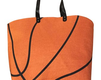 Basketball Canvas Tote Sports Bag, Various