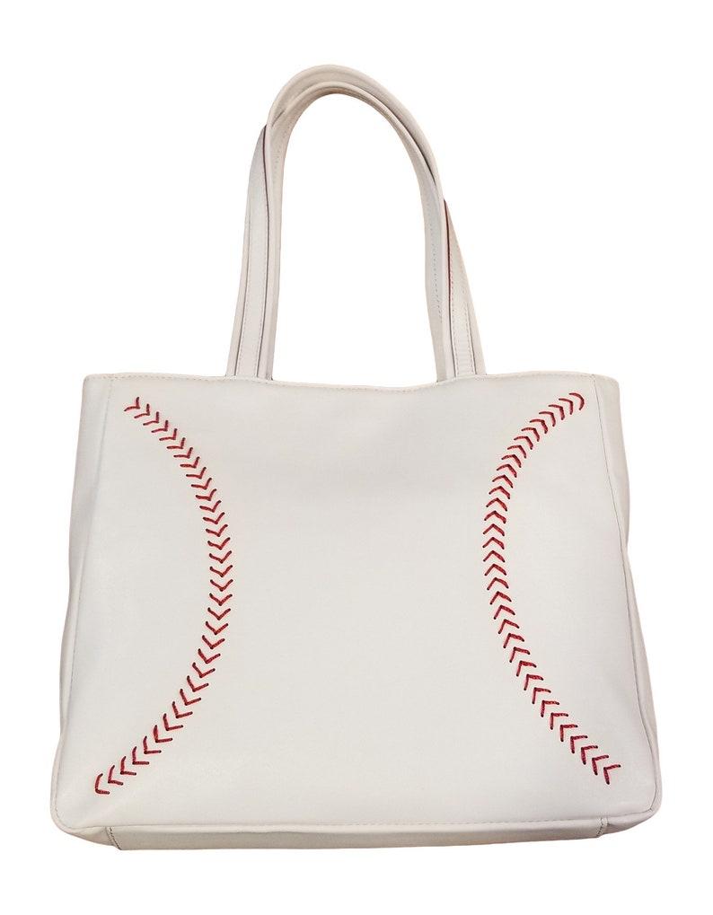 Leather Baseball Seam Handbag Best Baseball Purse Great image 0