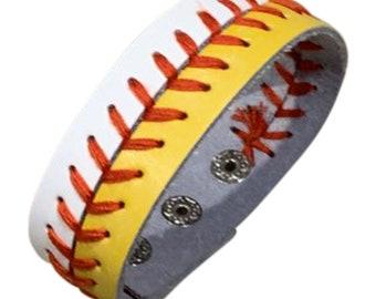 Baseball & Softball Leather Bracelet Jewelry - Large