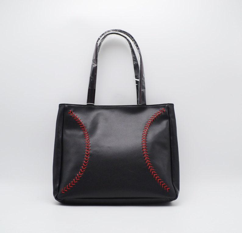 Black Baseball Leather Purse Handbag by BallPark Leather image 0