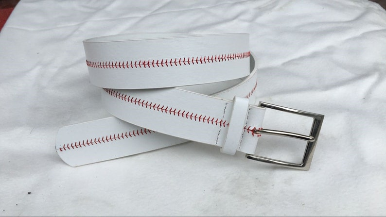 Baseball Seam Belt for Kids and Adults Faux Leather image 0