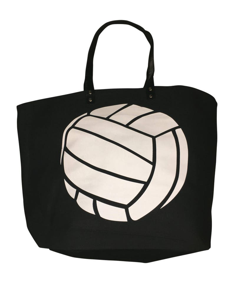 Volleyball Canvas Tote Beach Bag Great Volleyball Gift for image 0