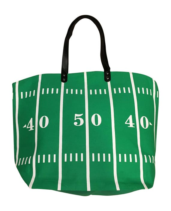 Football Mom Sports Canvas Tote Bag Market Pouch Grocery Reusable Recycle Go Green Eco Friendly Jenuine Crafts