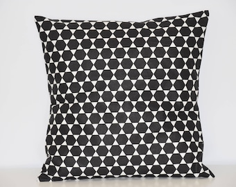 -40 x 40 cm - geometric Cushion cover * diamond * - black and white tones - Scandinavian trend