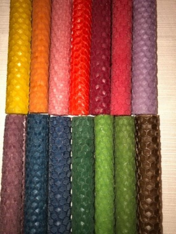 16 Hand Rolled Beeswax 10cm//4 Inch Altar//Wicca//Pagan Spell Candles