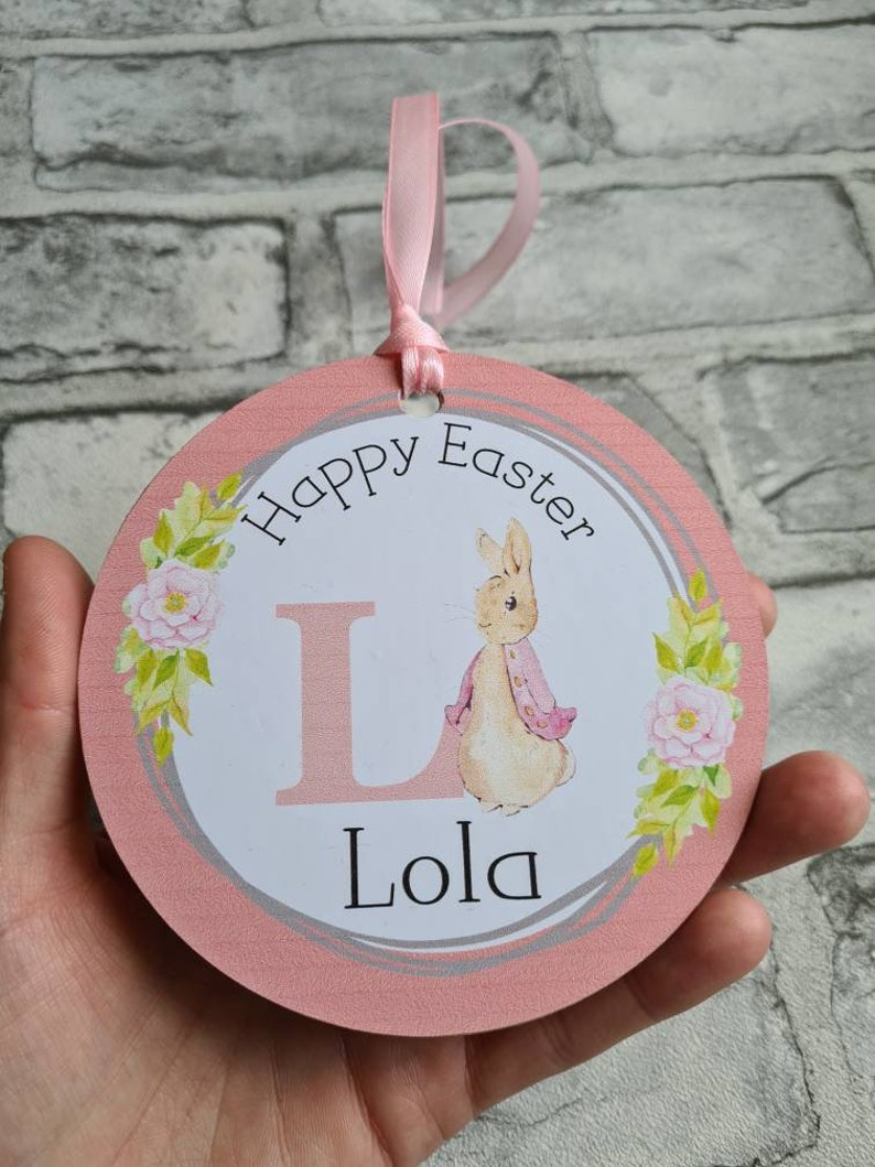 Personalised easter decoration Personalised easter keepsake Easter decoration Peter rabbit easter Easter gift