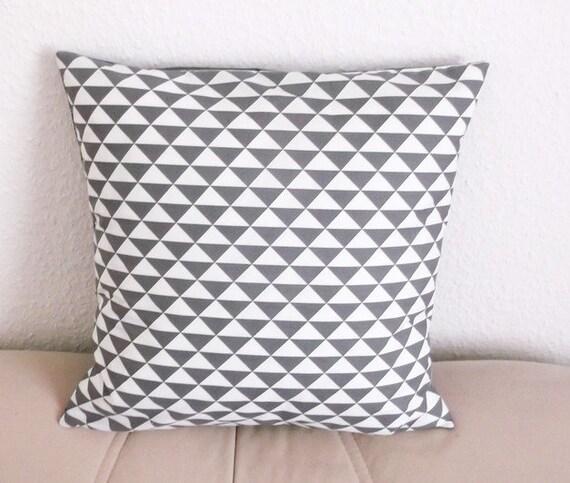 Kissenhülle Kissenbezug Dreiecke Grau Weiß Skandinavische | Etsy