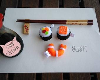 Sushi Cat Toy, Sushi Catnip Toy,  Sushi Valerian Cat toy