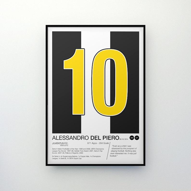e467b747ab0 Alessandro Del Piero 10 Juventus F.C. Poster Print