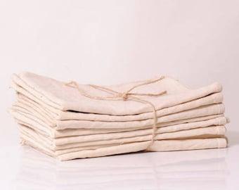 3 tea towels linen antique/metis/red Monogram linen country house