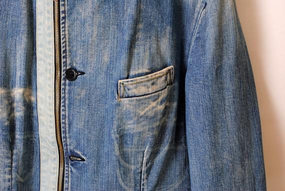 indigo work jacket,faded jacket - image 4