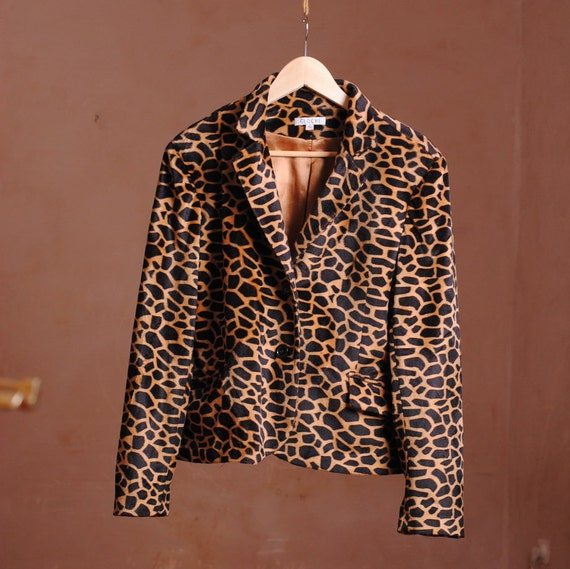 imitation leopard jacket